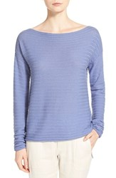 Women's Vince Ribbed Boatneck Cashmere Sweater Monaco