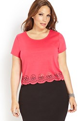 Forever 21 Plus Size Striking Laser Cut Crop Top