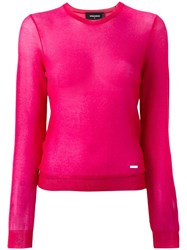 Dsquared2 Glitter Detail Jumper Pink Purple