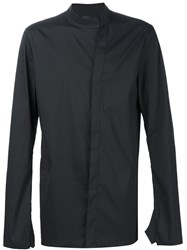 Thamanyah Band Collar Shirt Black