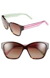 Lilly Pulitzer 'Flora' 57Mm Polarized Sunglasses Dark Tortoise Crystal Pink