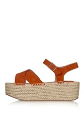 Topshop Wolf Espadrille Wedge Orange