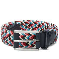 Andersons Anderson's Woven Textile Belt Pink Blue And White