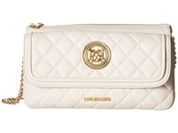 Love Moschino Long Classic Quilted Crossbody Bag White Cross Body Handbags