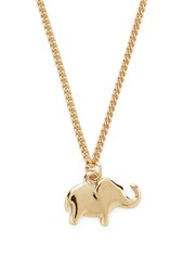 Forever 21 Elephant Charm Necklace Gold