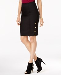 Guess Maryna Hardware Detail Pencil Skirt Jet Black