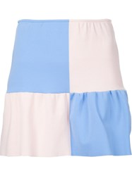 Arthur Arbesser Frill Mini Skirt Blue