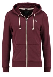 Abercrombie And Fitch Muscle Fit Tracksuit Top Burgundy Bordeaux