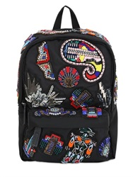 Msgm Embellished Nylon Backpack