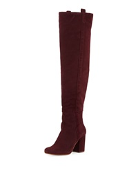 Vc Signature Kylar Suede Over The Knee Boot Bordeaux