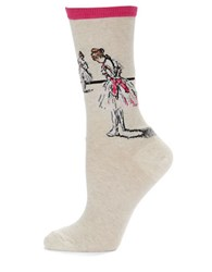 Hot Sox Ballerina Print Socks Hot Pink
