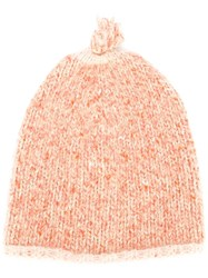 Forte Forte Ribbed Knit Hat Yellow And Orange