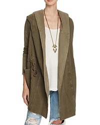 Free People Brentwood Hooded Cardigan Olive