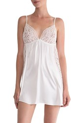 In Bloom By Jonquil Women's Lace Trim Chemise Ivory