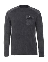Jeep Pullover Sweater Charcoal