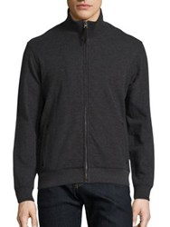 Billy Reid Ribbed Track Jacket Charcoal