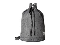Herschel Hanson Scattered Raven Crosshatch Black Pebbled Leather Backpack Bags Gray