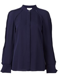 3.1 Phillip Lim Round Neck Blouse Blue