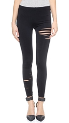 David Lerner Half Ripped Leggings Black