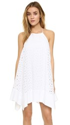 Susana Monaco Embroidered Halter Dress Sugar