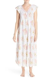 Women's Midnight By Carole Hochman Floral Cotton Nightgown Magnolia Blossom