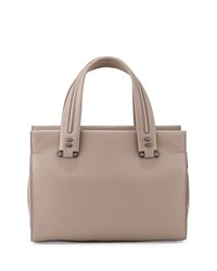 Time's Arrow Rampling Medium Leather Satchel Bag Opal White