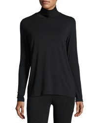 Grey State Jaime Cutout Sleeve Turtleneck Tee Black