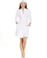 Jockey Vintage Terry Robe And Spa Headband White