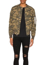 Stampd Washed Bomber In Abstract Green Abstract Green