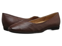Naturalizer Jaye Coffee Bean Leather Women's Flat Shoes Brown