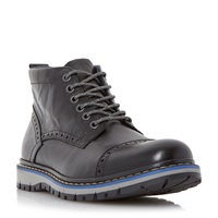 Dune Champion Leather Sporty Sole Boots Black