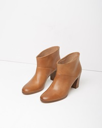 Maison Margiela Line 22 Leather Ankle Boot Taupe