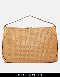 French Connection Leather Shoulder Bag Tan