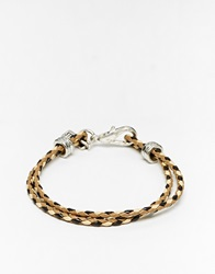 Jack Wills Plaited Bracelet Brown