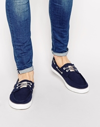 Original Penguin Canvas Boat Shoes Navy