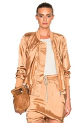 Rick Owens Ripple Flight Jacket In Neutrals Metallics Neutrals Metallics