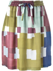 Odeeh Graphic Print Skirt Multicolour