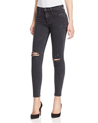Hudson Faded Destructed Skinny Jeans In Gadget 100 Bloomingdale's Exclusive