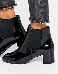 Daisy Street Black Patent Chelsea Boots Black Patent