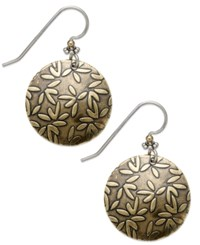 Jody Coyote Sterling Silver Earrings Bronze Daisy Drop Earrings