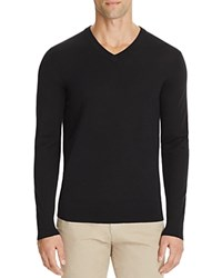 Theory Riland New Sovereign Slim Fit V Neck Sweater Black