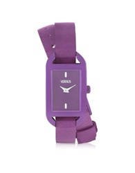 Versace Versus Ibiza Aluminum And Leather Wrap Women's Watch