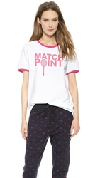 Ostwald Helgason Match Point T Shirt White Pink