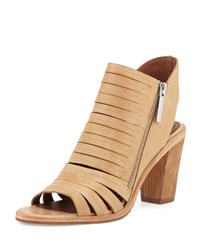 Donald J Pliner Kasia Strappy Open Toe Bootie Natural