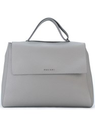 Orciani Flap Closure Tote Bag Grey