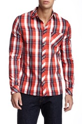 Eleven Paris Keitan Plaid Long Sleeve Shirt Red