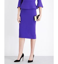 Roland Mouret Arreton Wool Pencil Skirt Royal Purple