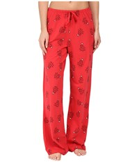 Life Is Good Holiday Trees Jersey Sleep Pants Simply Red Women's Pajama