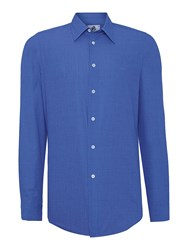Paul Smith Tailored Fit Chambray Shirt Navy
