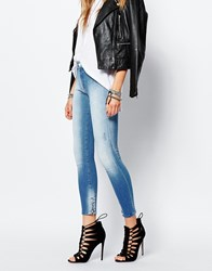 Replay Sherilyn Ankle Grazer Jean With Zip Detail Blue
